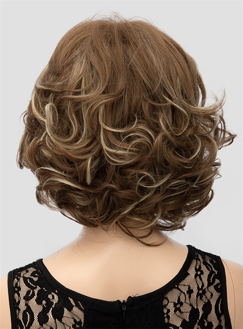 Elegant Mixed Color Medium Wavy Capless Synthetic Hair Wig 12 Inches(Free Shipping)