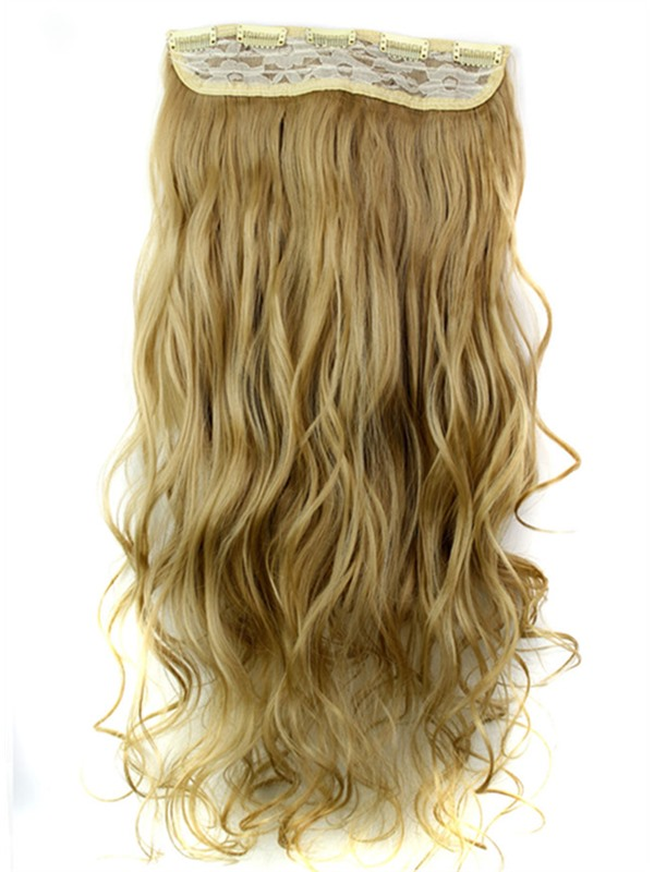 24M27 Mix Color Long Wave Synthetic One Piece Clip In Hair Extension 24 Inches(Free Shipping)