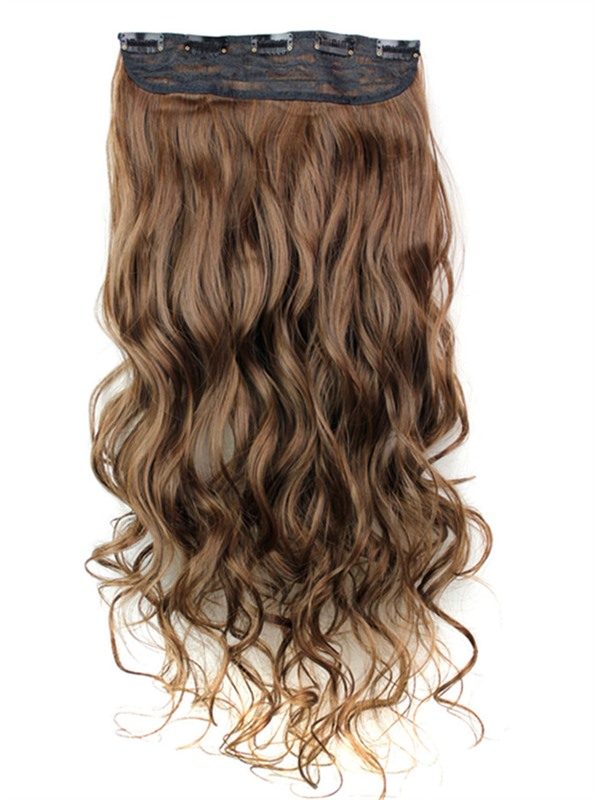 2/30 Mix Color Synthetic One Piece Clip In Hair Extension 24 Inches(Free Shipping)