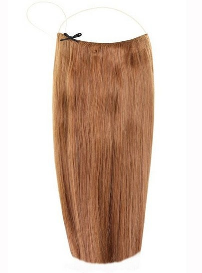 Chestnut #8 Straight Human Hair Flip In Hair Extension(Free Shipping)