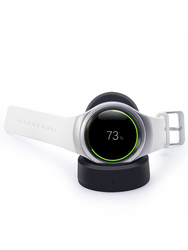 Black 5mm Working Distance Wireless Charger For Samsung Gear S2