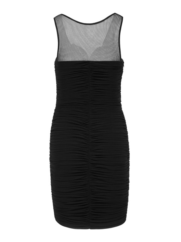 Straps Ruched Hollow Sheath Cocktail Dress