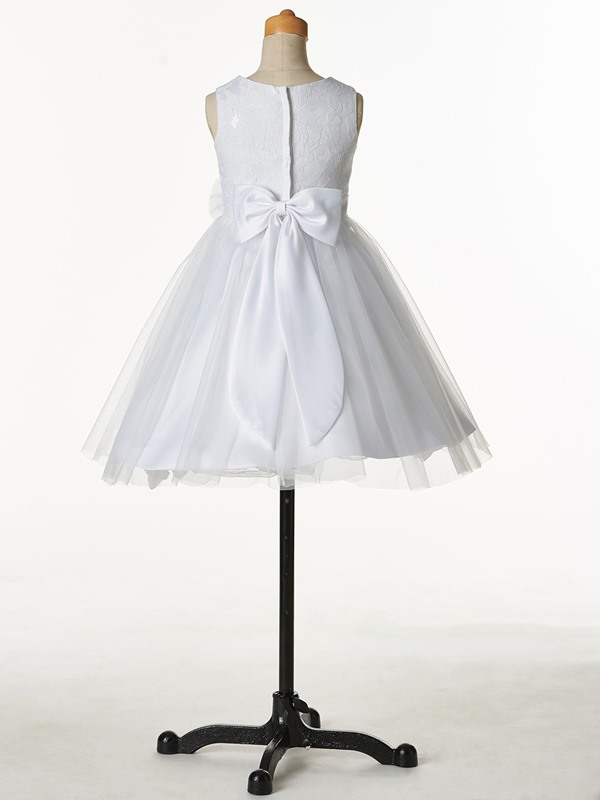 Lovely Starps Bowknot Bowknot Flower Girl Dress