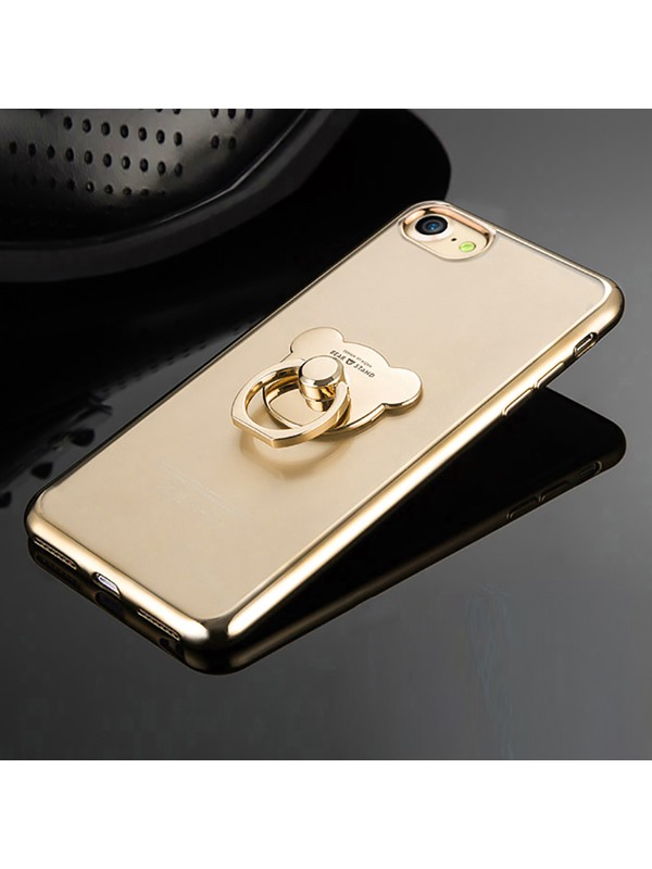 Silicone Luxury ring holder Straps crash proof phone case for iPhone 7/7Plus