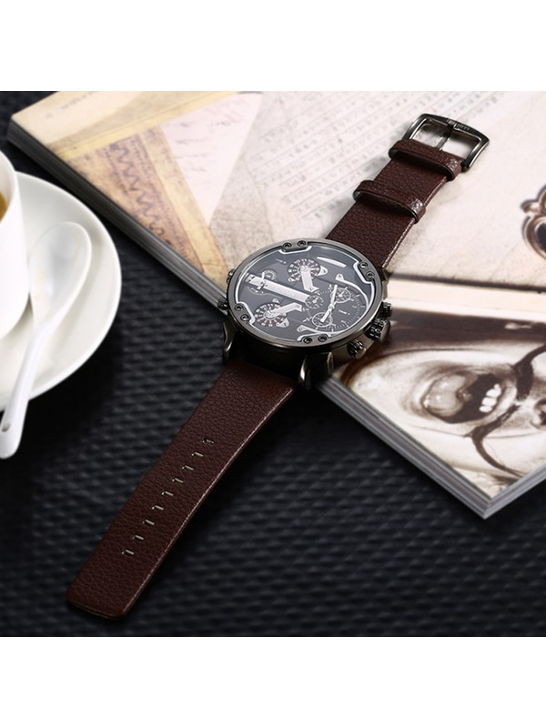 Business Coffee Band Design Men's Watch