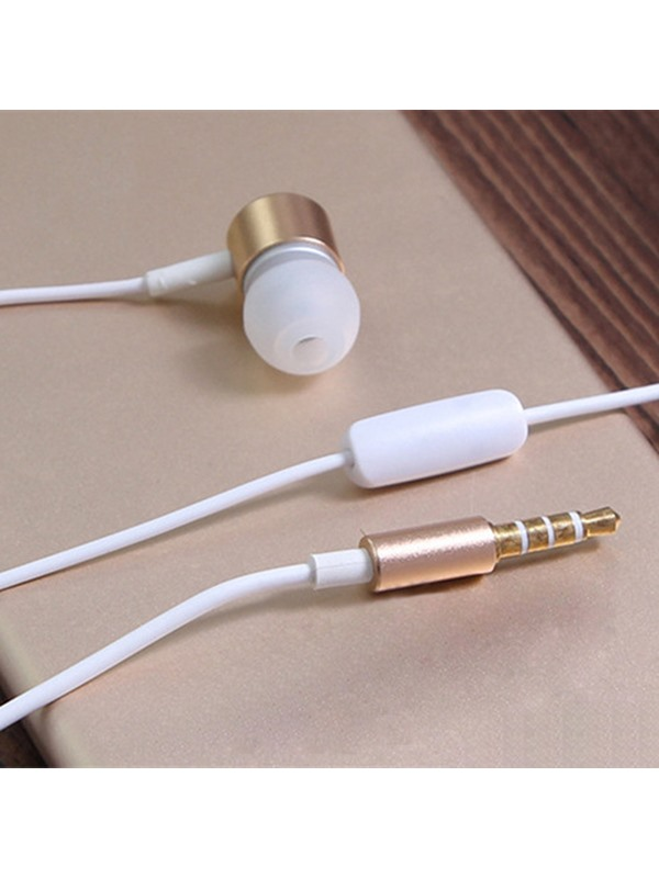 Caldecott Metal Wire-control Earphone for Apple/Samsung