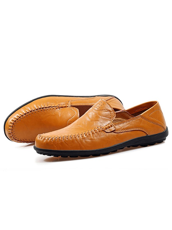 PU Plain Slip-On Men's Oxfords