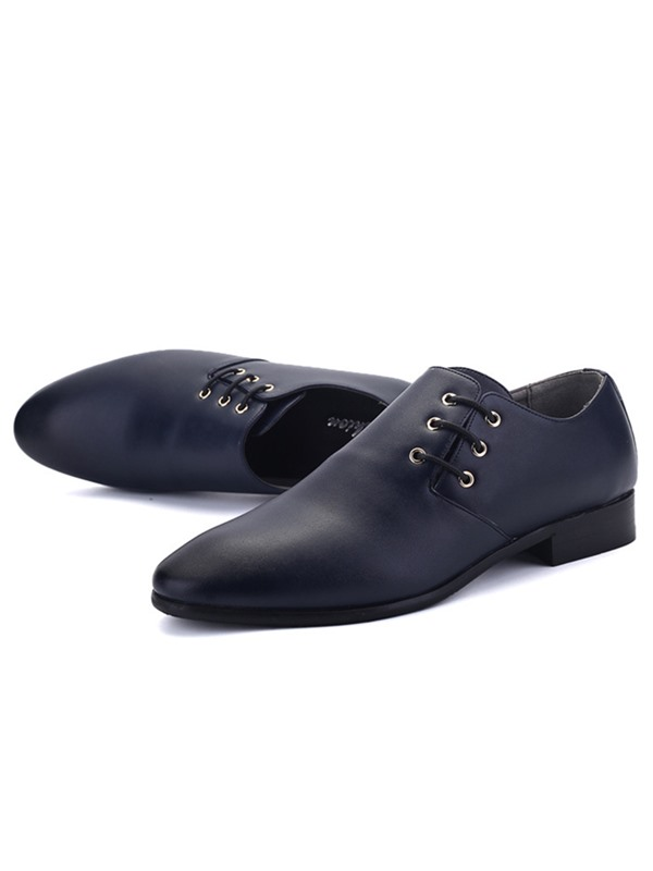 Simple PU Pointed Toe Men's Dress Shoes