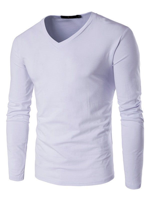 Tidebuy Solid Color Slim Fit Men's T-Shirt