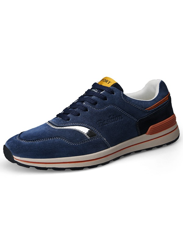Nubuck Leather  Lace-Up High Quality Men's Sneakers