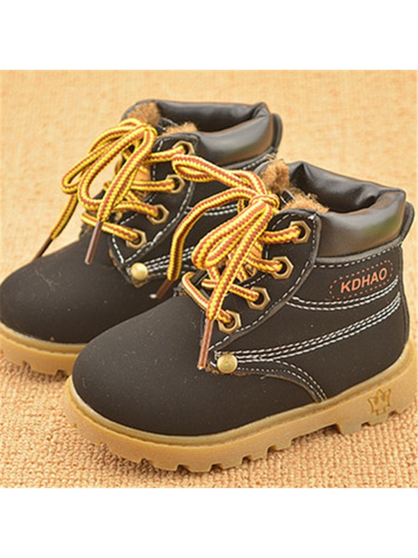Lace-Up Front Lined Little Kid's Boots