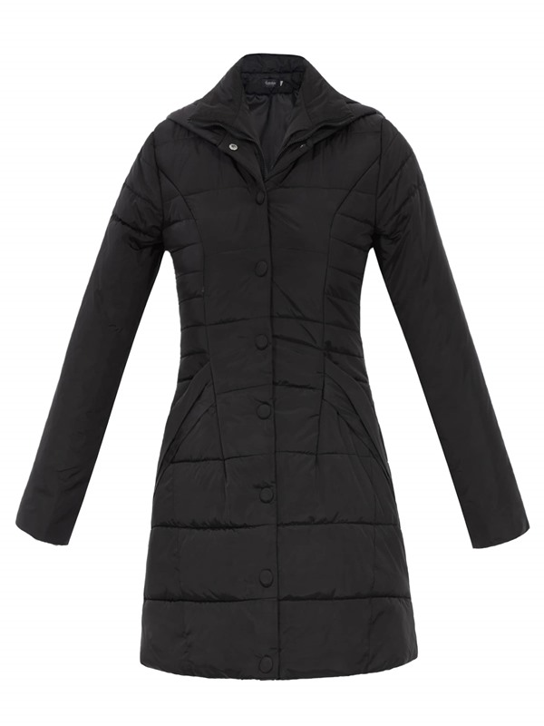 Stylish Single-Breasted Slim Women's Cotton Overcoat