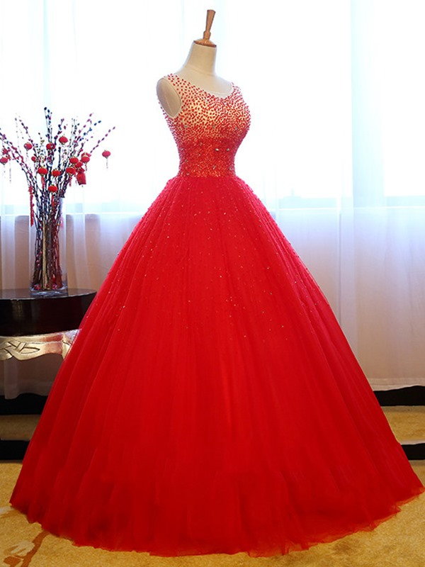 V-Neck Sequins Beading Quinceanera Dress