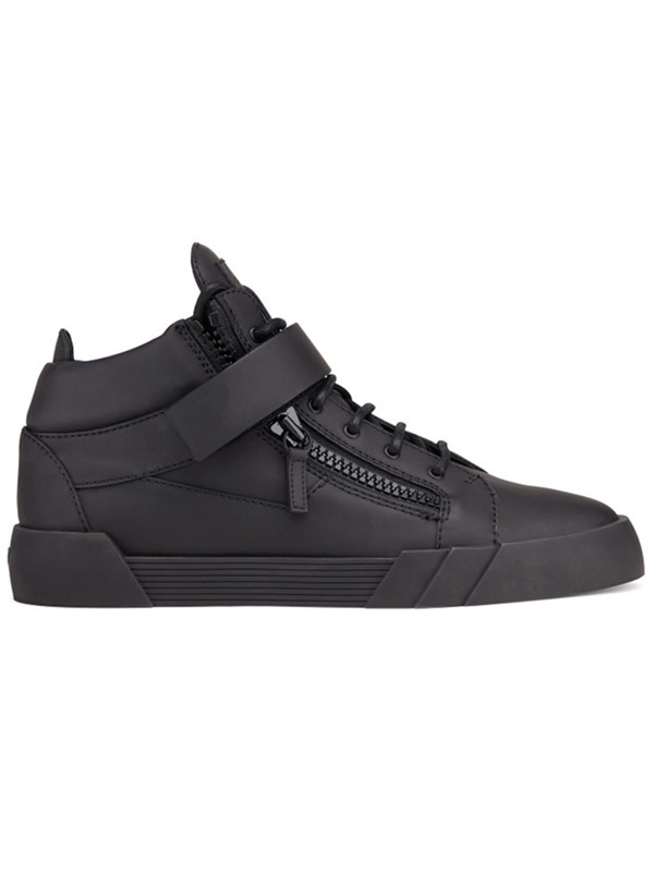 PU Black High-Cut Upper Men's Sneakers