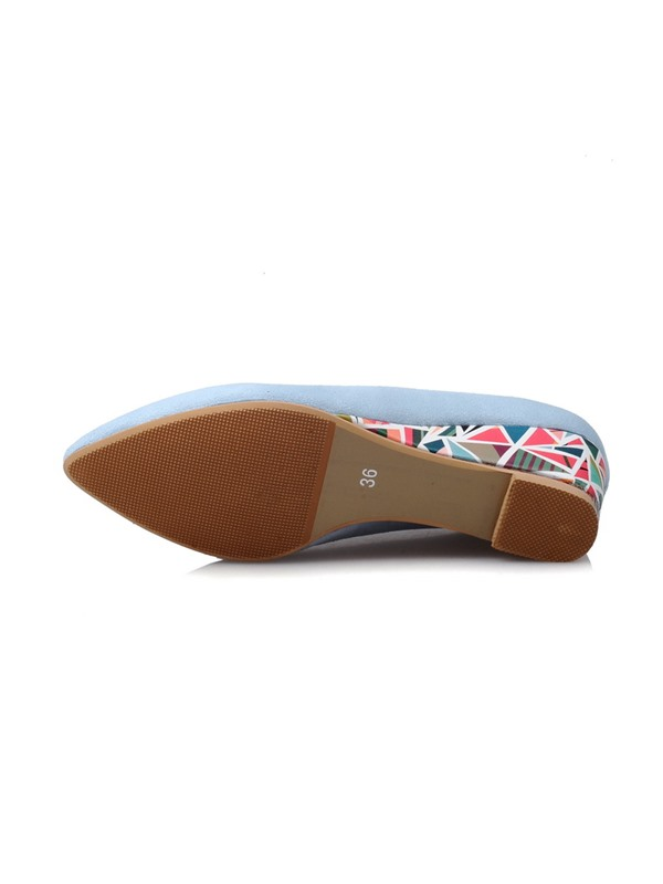 PU Slip-On Mid-Heel Women's Wedge Shoes