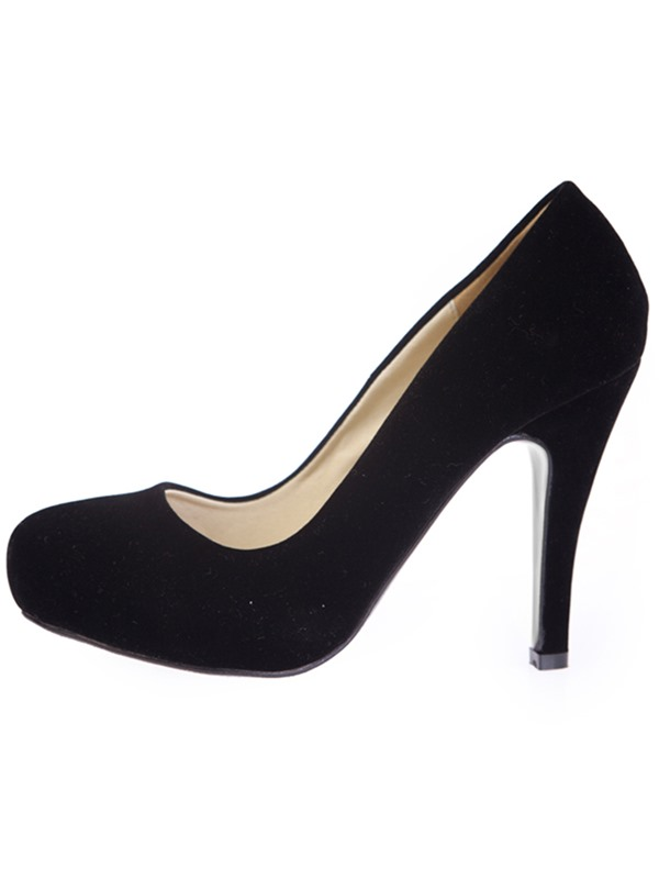 Elegant Nubuck Leather Slip-On Stiletto Heel Women's Pumps