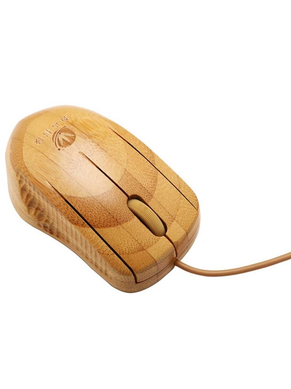 Bamboo Wired Mouse Ergonomics Mouse