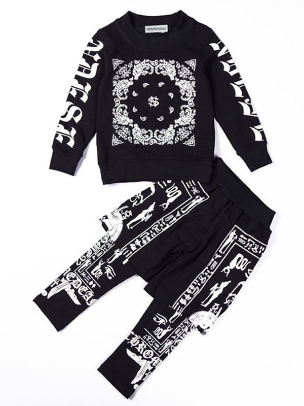 Stylish Printing 2-in1 Pant Boy's Sports Outfit