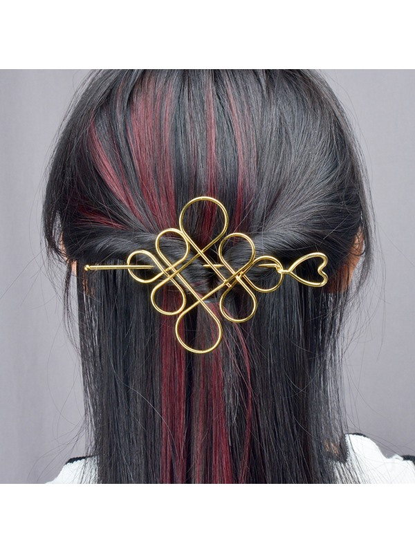 Metal Chinese Knot Design Hairpin