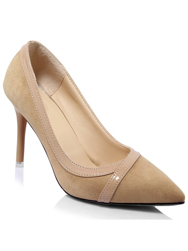 Elegant PU Slip-On Stiletto Heel Women's Pumps