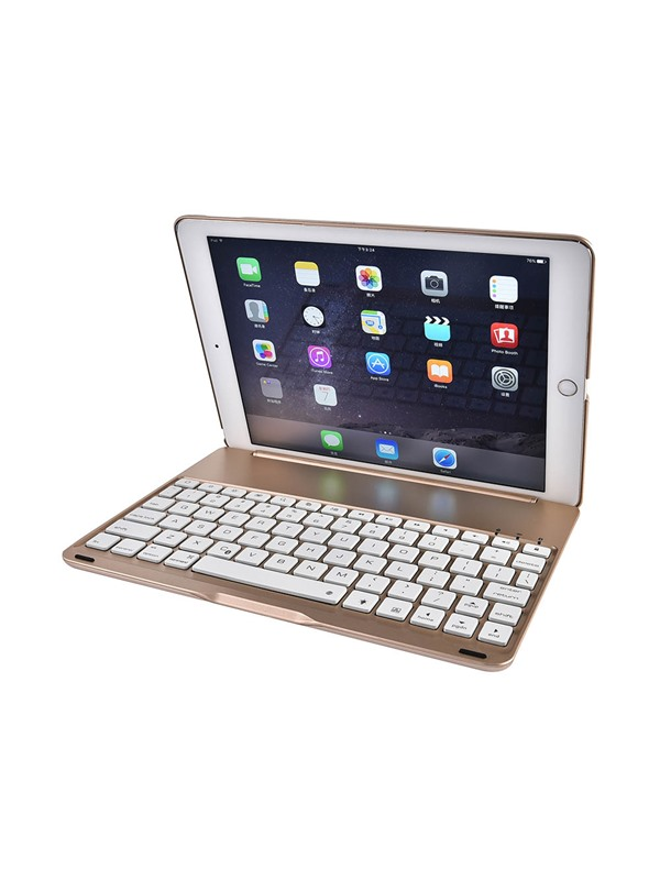For iPad Pro 9.7 inch/ iPad Air 2 LED Backlit Aluminium Bluetooth Keyboard Smart Folio Case cover