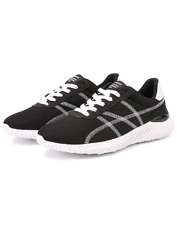 Sassy Mesh Patchwork Lace-Up Men's Sneakers
