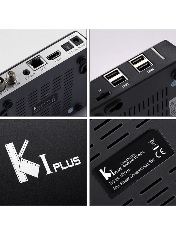 K1 Plus Android TV Box 1G+8G 4K Support DVB-T2 DVB-S2