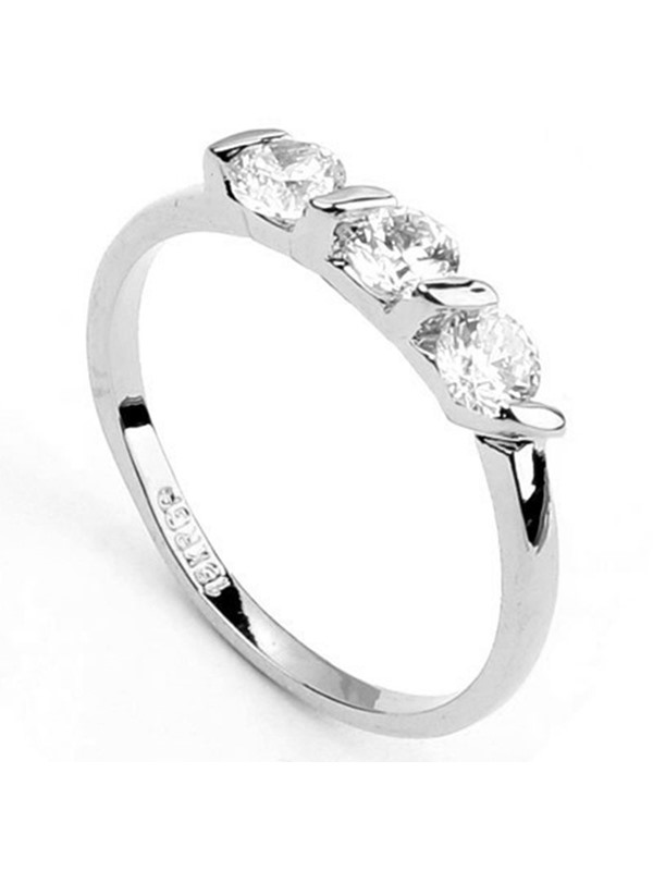 Hot Sale Simple Alloy Diamante Ring