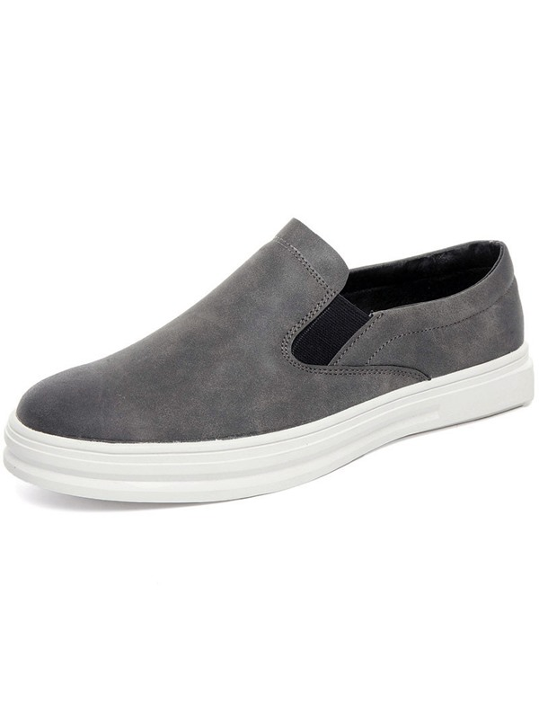 PU Slip-On Round Toe Men's Casual Shoes