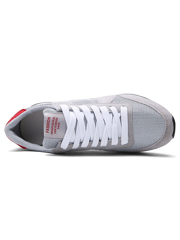 Nubcukl Leather Lace-Up Thread Comfy Sneakers