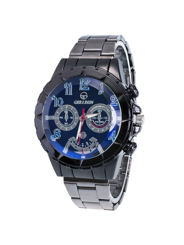 Trendy Steel Band Quartz Watch for Men