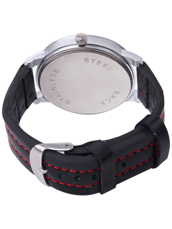 Stripe Surface Design Analog Display Lovers' Watch