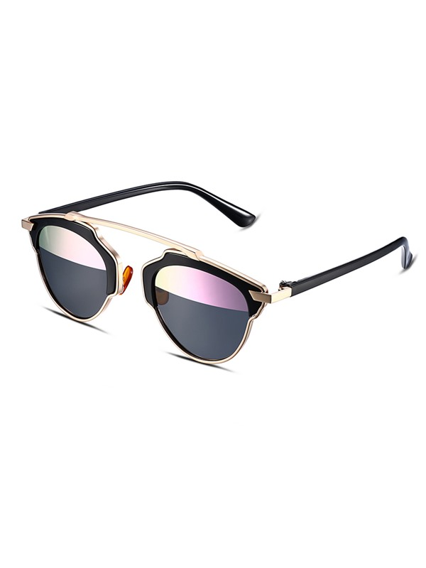 Fashion Half Pink Lens Design Women's Polarized Sunglasses