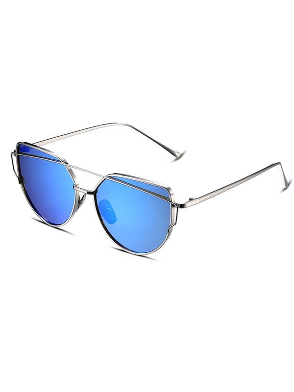 Twin-Beams Metal Frame Classic Polarized Sunglasses