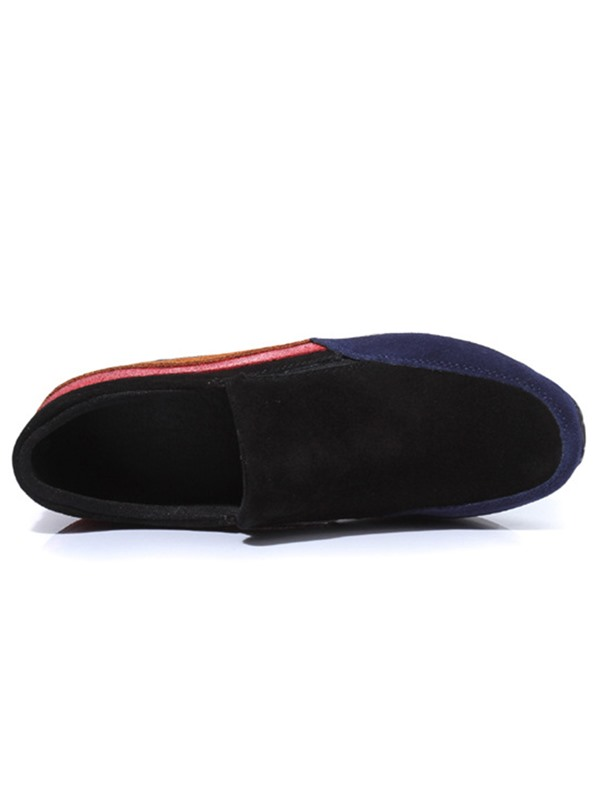 PU Slip-On Color Block Hidden Heel Women's Sneaerks