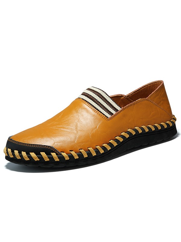 Stylish PU Slip-On Round Toe Men's Casual Shoes