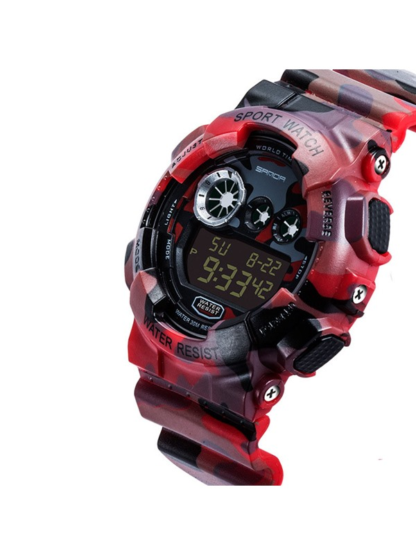 Electronic Movement LED Luminous Display Men's Watch