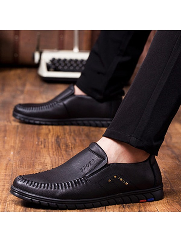 PU Plain High Quality Men's Nice Shoes