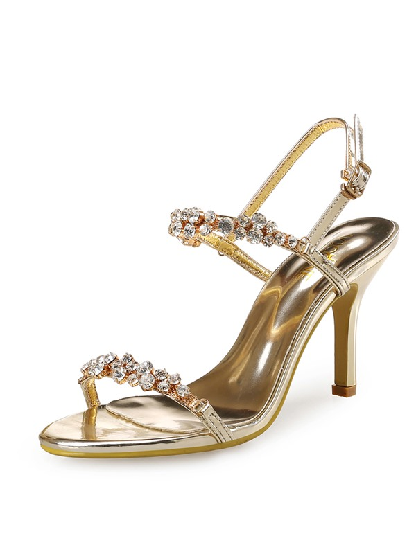 PU Strappy Buckle Open Toe Women's Heel Sandals