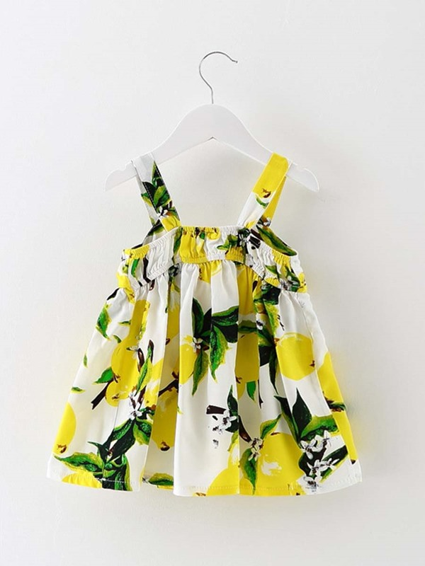 Stylish Floral Big-Bow Girl's Dress