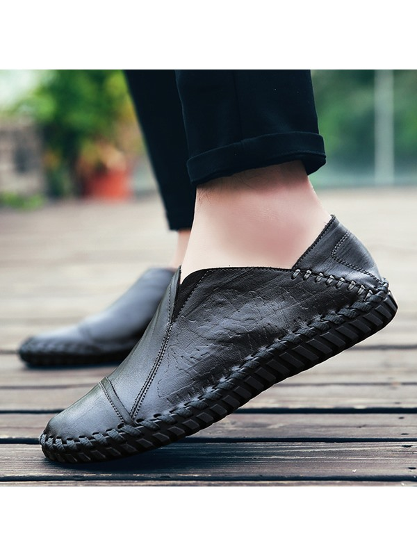 PU Slip-On Round Toe Men's Nice Casual Shoes