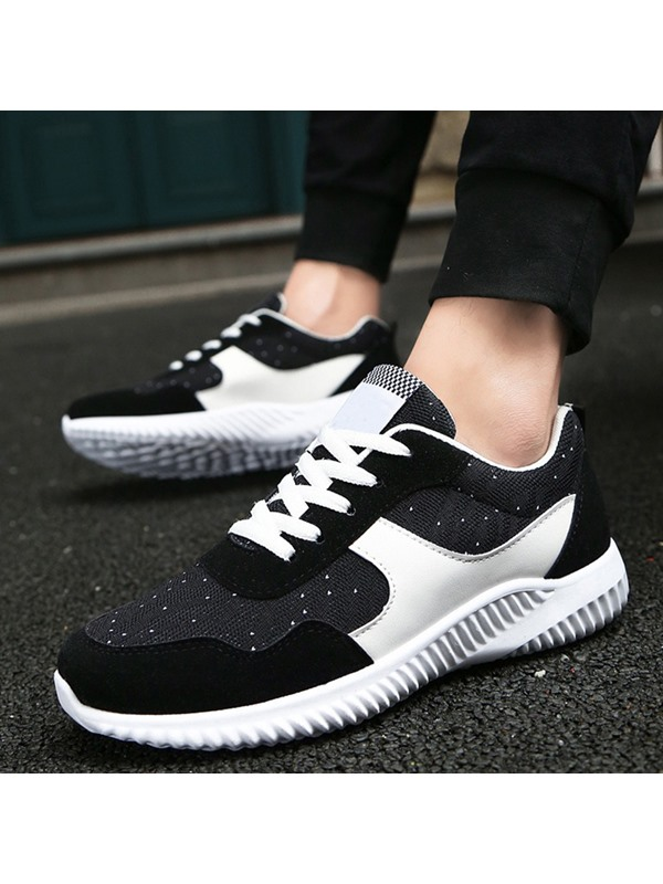 Mesh Color Block Patchwork Lace-Up Men's Nice Sneakers