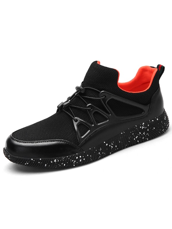 Mesh Lace-Up Patchwork Fashion Shoes for Men