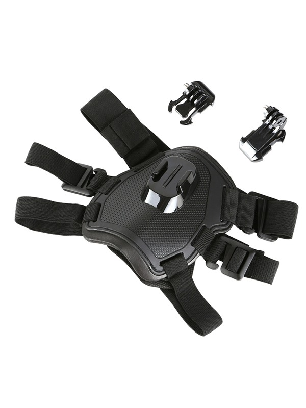 Black Fetch Dog Harness Belt Mount for GoPro Sports Camera Dog Chest Strap Accessories