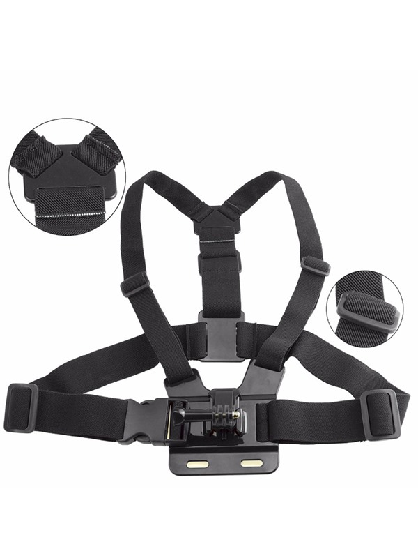 CP-GPK05 Black Universal Action Camera Accessory Back Ridge Strap