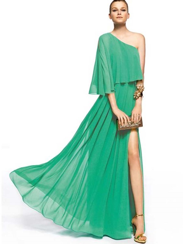 Raglan Sleeve Chiffon Maxi Dress