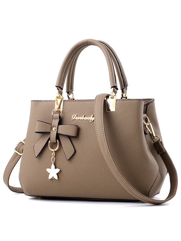Simple Bowknot Pendant Commute Women Satchel