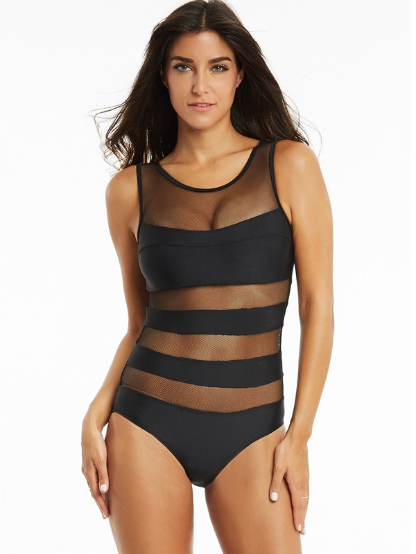 Vogue See-Through One-Piece Swimsuit
