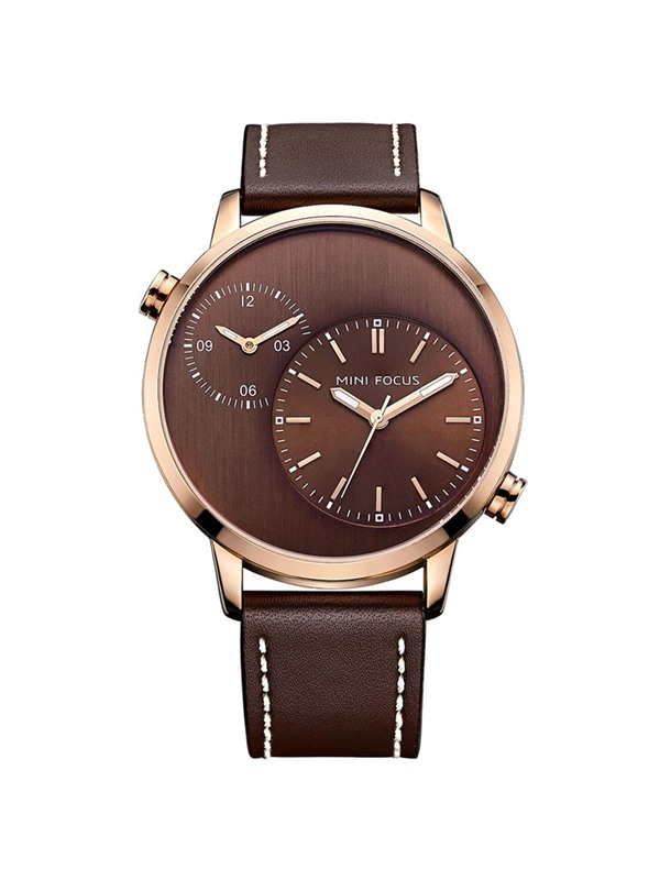 Double Movement Design Alloy Men's Strap Watch