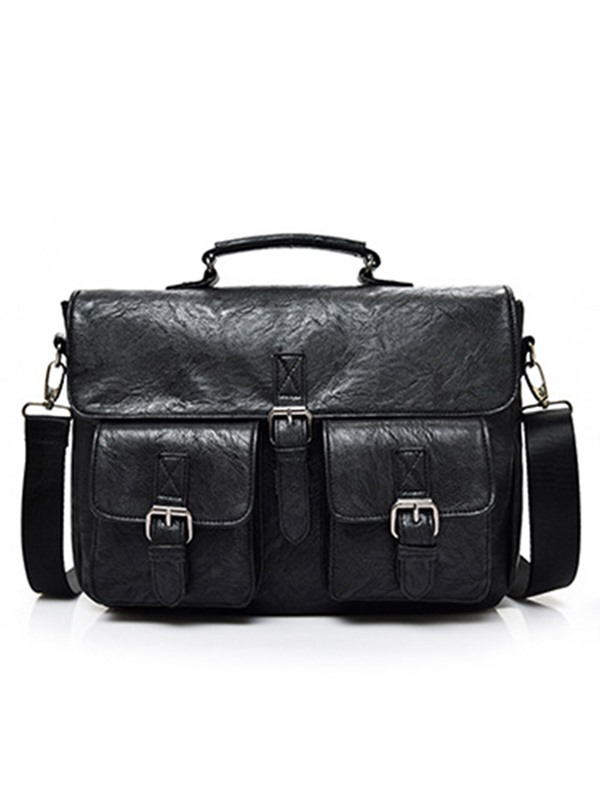 Classic Briefcase PU Men's Bag